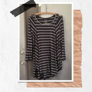 Maurices Striped Long Sleeve Tunic